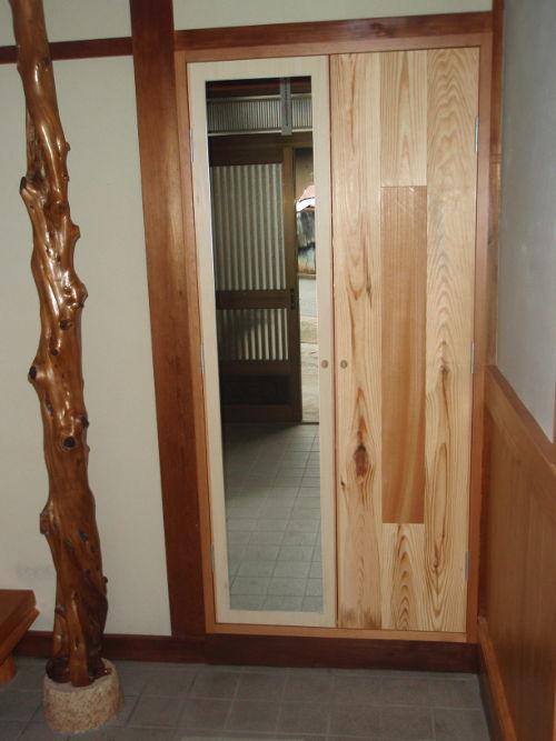 鏡と地松と欅のコラボ