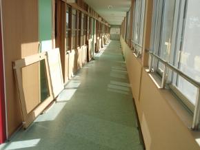 大阪市W中学校新築現場
